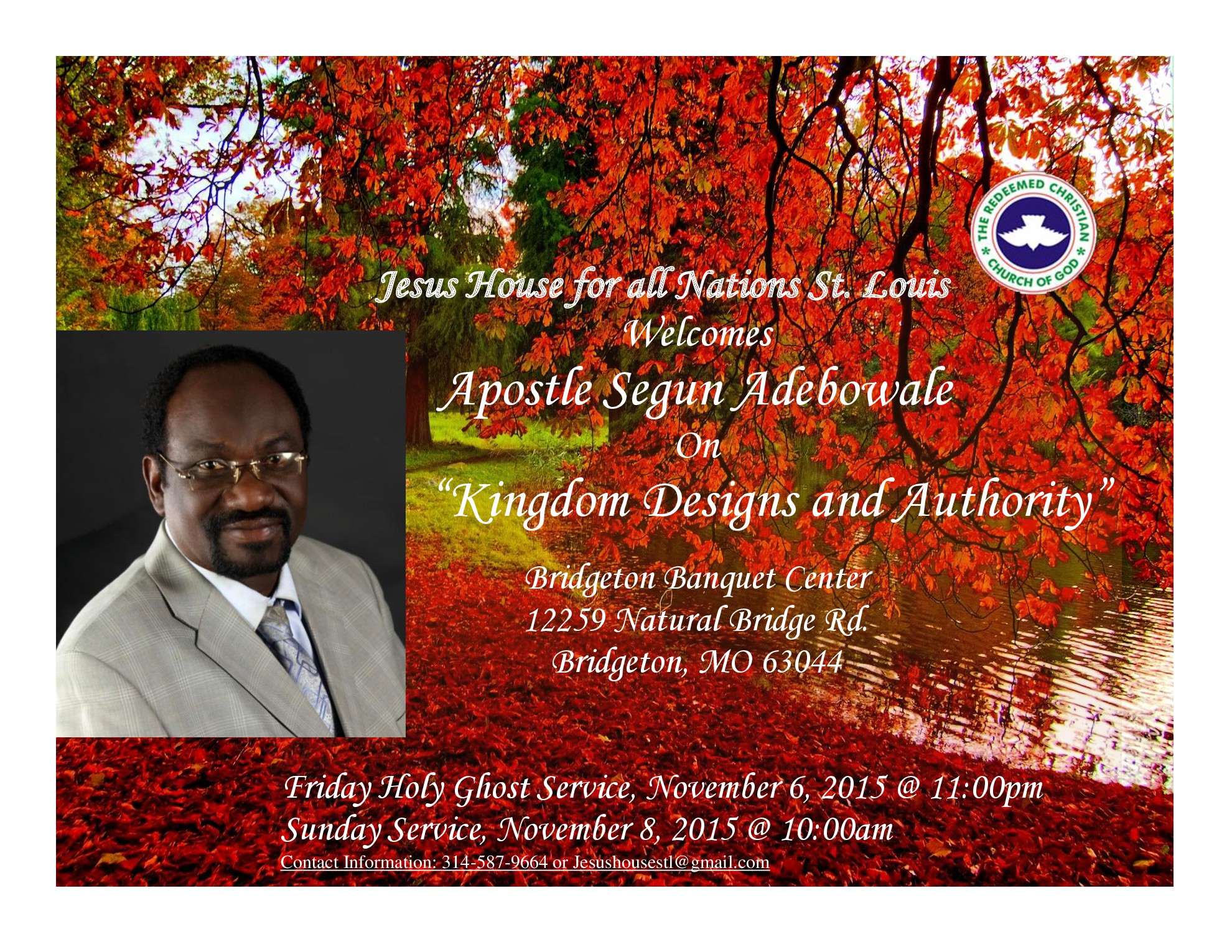 Jesus House for All Nations St. Louis Welcomes Apostle Segun Adebowale