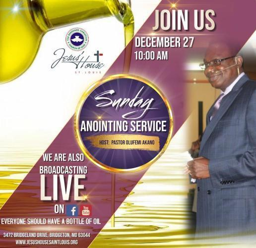 Sunday Anointing Service