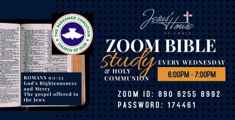Zoom Bible Study/Holy Communion